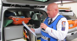 Homegrown Hero Larry Mundschau overseeing Triage at a Mass Casualty Exercise